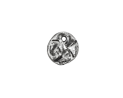Rustic Charms Sterling Silver Rustic Disc Charm 11mm