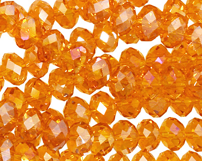 Tangerine AB Crystal Faceted Rondelle 8mm
