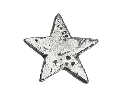 Green Girl Pewter Star Button 27mm