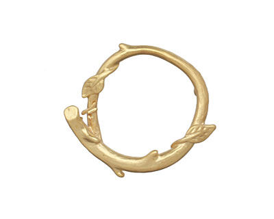 Ezel Findings Gold (plated) Branch Wreath Link 24x21mm
