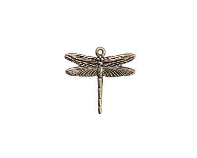 Stampt Antique Pewter (plated) Dragonfly Charm 16x15.5mm