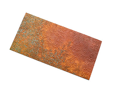 Lillypilly Rojo Morphed Embossed Patina Copper Sheet 3