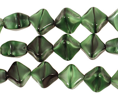 Czech Glass Emerald Isle Organic Diamond 10mm