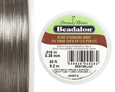 "Beadalon Bright .015"" 7 Strand Wire 30ft."