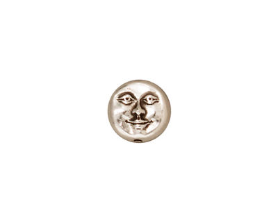 TierraCast Antique Silver (plated) Moon Face Bead 10mm