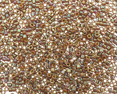 TOHO Opaque Rainbow Frosted Khaki Treasure #1 Seed Bead