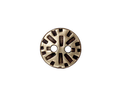 TierraCast Antique Brass (plated) Round Radiant Button 15mm
