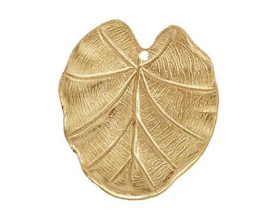 Brass Flat Leaf 28x30mm