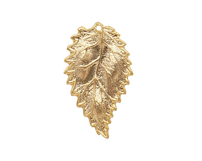 Ezel Findings Gold (plated) Sesae Leaf 16x27mm