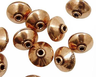 Antique Copper Saucer 9x12-13mm