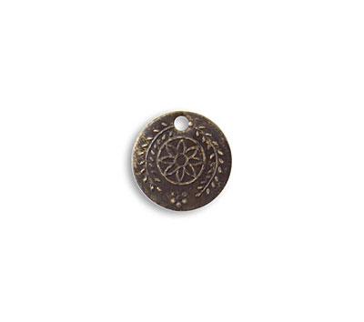 Vintaj Natural Brass Botanical Coin 12.5mm