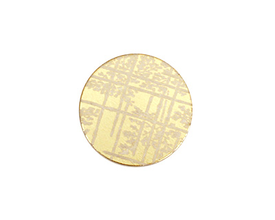 Lillypilly Gold Bamboo Anodized Aluminum Disc 19mm, 22 gauge