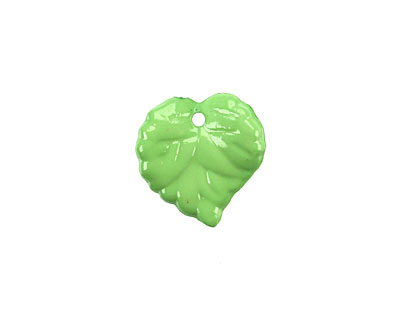 Lucite Opaque Apple Green Tiny Ivy Leaf 15x16mm