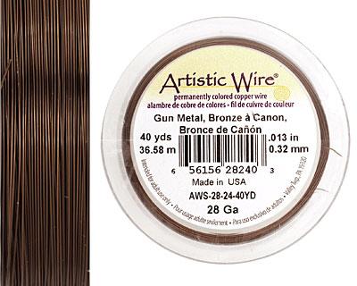 Artistic Wire Antique Brass 28 gauge, 40 yards
