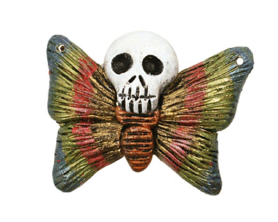 Poison Tree Polymer Clay Rainbow Death Poetry Butterfly 35-36x26-27mm