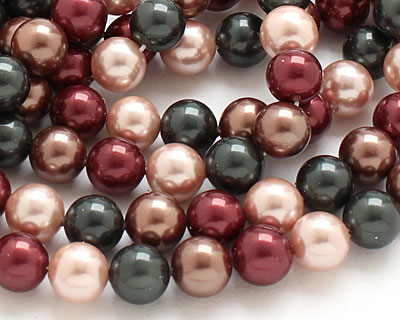 Cordial Shell Pearl Mix Round 8mm