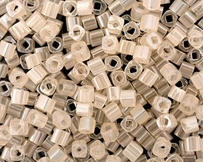 TOHO Ceylon Light Ivory Cube 3mm Seed Bead