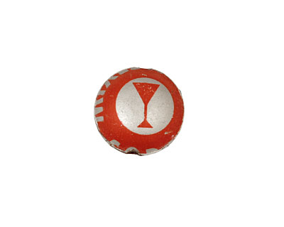 Trinket Foundry Red Martini Bottle Cap Puff Coin 15mm