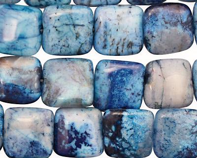 Brazil Blue Agate Puff Square 12mm