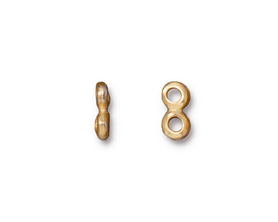 TierraCast Gold (plated) Nugget 2-Hole Bar 5x10mm