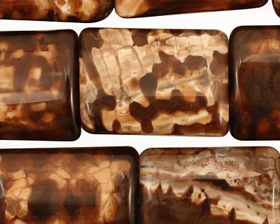 Leopard Fire Agate Thin Pillow 20x15mm