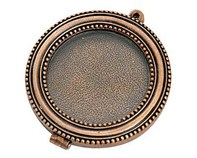 Nunn Design Antique Copper (plated) Large Beaded Locket 44mm