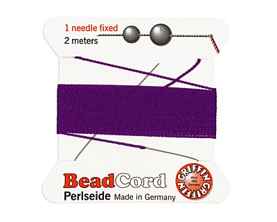 Amethyst Griffin Silk Beading Cord Size 4, 2 meters