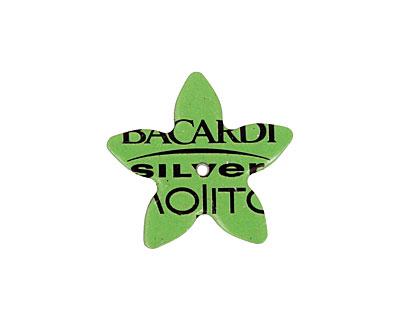 Trinket Foundry Lime Green (Mojito) Small 5 Petal Bottle Cap Flower 22mm