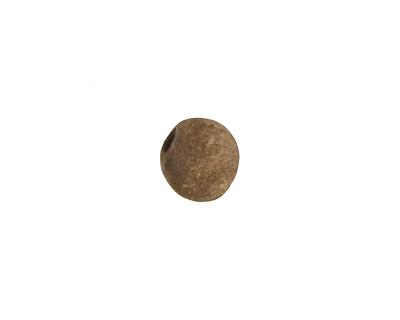 Gaea Ceramic Cream on Chocolate Organic Round 9-10x12-13mm