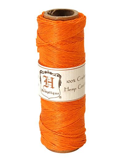 Orange Hemp Twine 10 lb, 205 ft