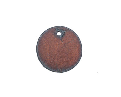 The Lipstick Ranch Rusted Iron Blank Circle Tag 27mm