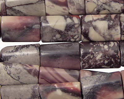 Porcelain Jasper Thin Pillow 14x10mm