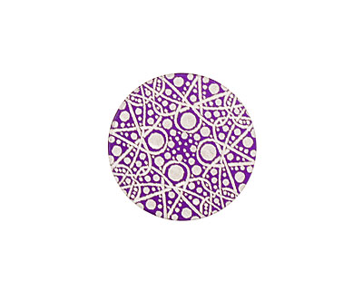 Lillypilly Purple Geometrics Anodized Aluminum Disc 19mm, 24 gauge