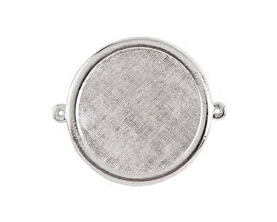 Nunn Design Sterling Silver (plated) Framed Large Circle Pendant Link 44x38mm