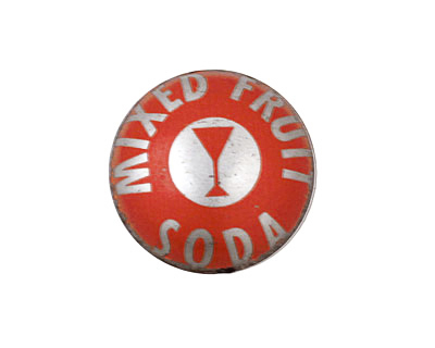 Trinket Foundry Red Martini Bottle Cap Puff Coin 22mm