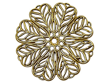Stampt Antique Gold (plated) Daisy Filigree 36mm