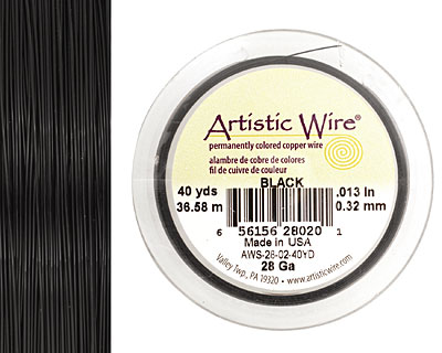 Artistic Wire Black 28 gauge, 40 yards