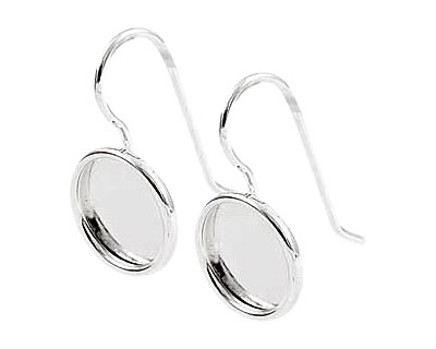 Nunn Design Sterling Silver (plated) Small Circle Frame Earring 13mm