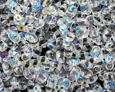 Crystal AB SuperDuo 2x5mm Seed Bead