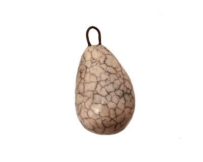 Earthenwood Studio Ceramic Crackle Egg 12-13x23-24mm
