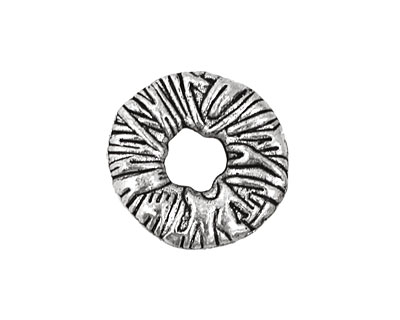 Pewter Textured Washer 4x21mm