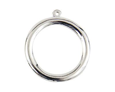 Nunn Design Sterling Silver (plated) Grande Circle Pendant 31x35mm