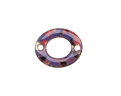 C-Koop Enameled Metal Purple Mix Small Oval Link 18-20x15-16mm