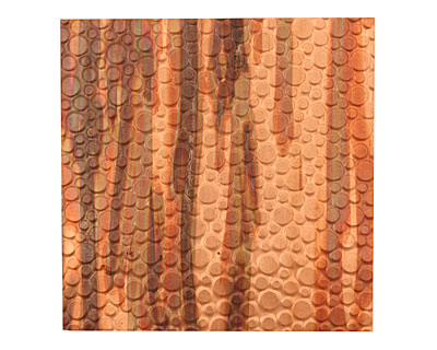 Lillypilly Enchantment Pebbles Embossed Patina Copper Sheet 3