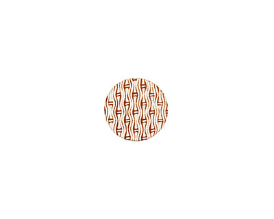 Lillypilly Bronze Reeds Anodized Aluminum Disc 11mm, 24 gauge
