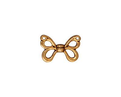TierraCast Antique Gold (plated) Butterfly Wings 15x11mm