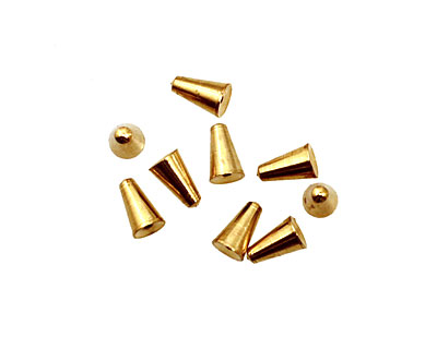 Memory Wire Gold (plated) Cone Endcap 6.5x4mm