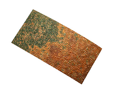 Lillypilly Verde Raised Flower Embossed Patina Copper Sheet 3