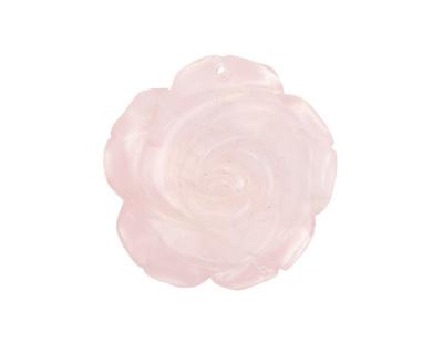 Rose Quartz Carved Flower 36mm
