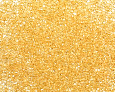 TOHO Transparent Light Topaz Round 15/0 Seed Bead